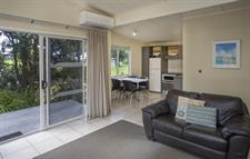 2 bedroom Garden View Lounge Kitchen Papamoa Beach Resort