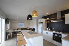 Baches - Kitchen & Living Papamoa Beach Resort