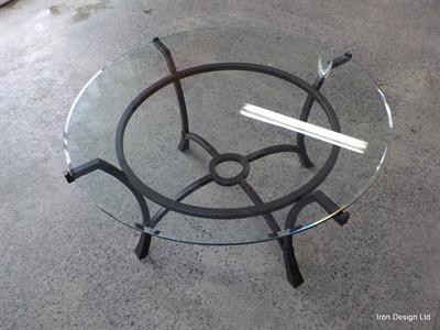 Table: Custom  round table Iron Design