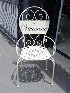 Memorial chair Iron Design