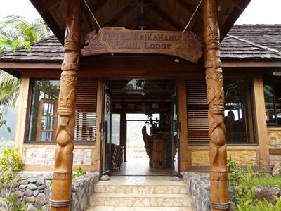 a - Keikahanui Nuka Hiva Pearl Lodge - entrance Keikahanui Nuka Hiva Pearl Lodge