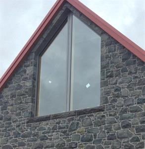 Katikati stone gable window