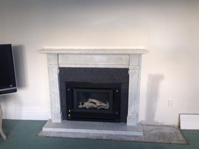 Carrera Marble fireplace