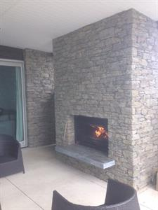 Gibston Schist fireplace
