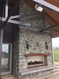 Katikati stone fireplace