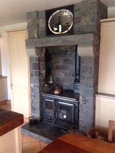 Katikati stone traditional fireplace