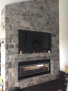 Taranaki Padock stone fireplace