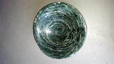 Carved green schist bowl