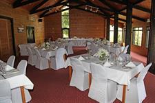 White table setting Lakes Lodge Wilderness Retreat