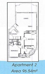 Your two bedroom floor plan (style one) Ocean Breeze