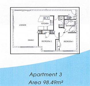 Your two bedroom floor plan (style two) Ocean Breeze