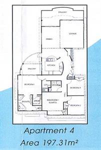 Your three bedroom apartment floor plan Ocean Breeze