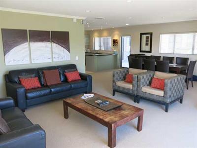 Open plan living in our three bedroom apartment Ocean Breeze