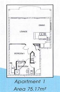 Your one bedroom apartment floor plan Ocean Breeze