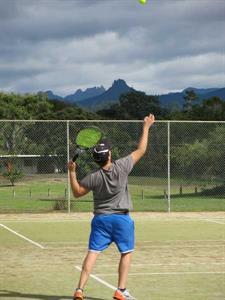 Play a game of tennis in Pauanui Ocean Breeze