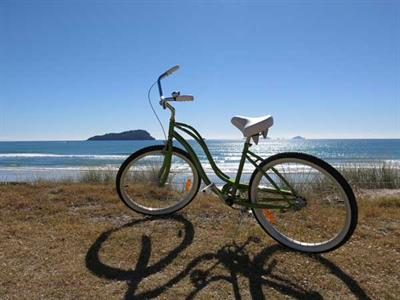 Take our beach bikes out for a ride
