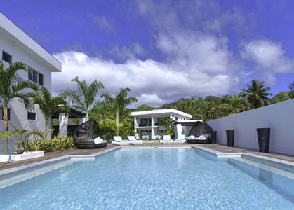 View of LVV from pool Cropped Crystal Blue Lagoon Villas