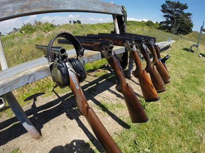 Have a go at clay target shooting