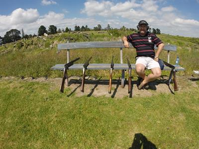 Join Peter for clay target shooting