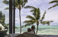 Feet view from beach front