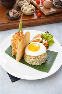 Seafood Fried Rice with Sunny Side Up