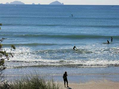 Fun surfing or paddle boarding in Pauanui