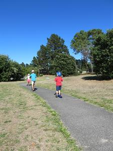 Pauanui's bike trails are great for kids scooters Ocean Breeze