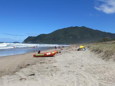 Pauanui surf beach lifeguards Ocean Breeze
