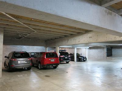 Free, secure underground parking available