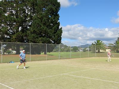 Enjoy a game of tennis on the courts