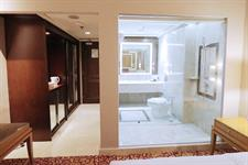 Newly renovated bathroom on Deluxe Room type