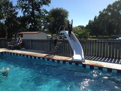 Pool Slide Fun