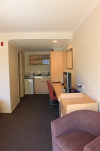 Studio Unit Desk & Kitchenette Space