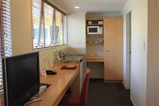 Twin Share Studio Desk & Kitchenette Facilities