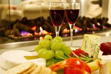 the warmth of an open fire