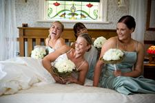 Bride and bridesmaids at Charlemagne Lodge