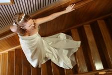Bride on Stairs Charlemagne Lodge