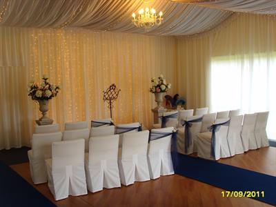 Indoor Ceremony Area Charlemagne Lodge