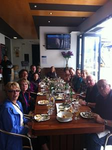 Group lunch on tour