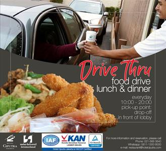 Drive Thru for Lunch and Dinner