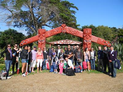 Marae Gate Group_Waiheke Island TIME Unlimited NZ Tours
