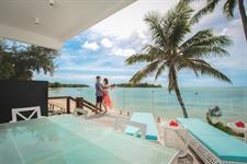 Out on the upper balcony - Beachfront Villa Crystal Blue Lagoon Villas