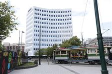DH Christchurch - Exterior with Tram