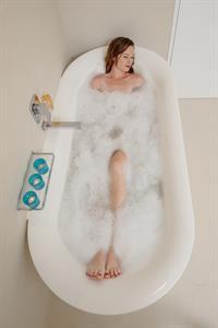 Soaking in the bath Crystal Blue Lagoon Villas