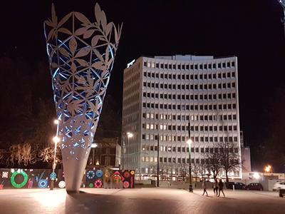 DH Christchurch - Night Exterior Distinction Christchurch Hotel