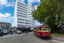 DH Christchurch - Exterior with Tram RL2