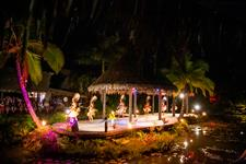 Spectacular Overwater Night Show Te Vara Nui Village