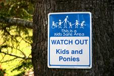 Kids Safe Area! Watch Out! Kids & Ponies