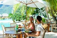 Bora Bora Dining - Tahiti Pearl Beach Resort  - dining pool (1) Bora Bora Pearl Beach