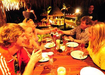 Guests dinner Te Vara Nui Village